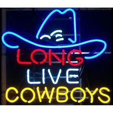 Long Live Cowboys Neon Bar Sign