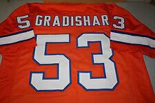 RANDY GRADISHAR #53 SEWN STITCHED THROWBACK JERSEY SIZE XL ORANGE