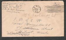 WWII cover H O Krippendorf EM 1/c 23rd Spec Batt HQ Co Phat 5 Port Hueneme CA
