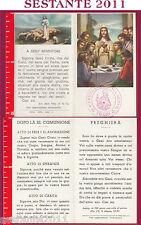 244 SANTINO HOLY CARD DOPO LA SANTA COMUNIONE GESù REDENTORE ULTIMA CENA