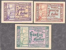 Gampern (OÖ) -Gemeinde- 10, 20 und 50 Heller (JP 221)