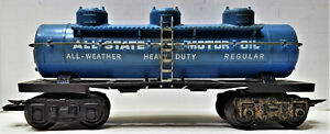 "MARX ""O"" GAUGE ALLSTATE MOTOR OIL""3 DOME TANK CAR"