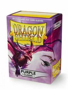 Dragon Shield Classic Purple 100 Standard Size (63 mm x 88 mm) Card Sleeves