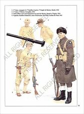 PLANCHE UNIFORMS PRINT WWII US ARMY UNITED STATES MARINE CORPS Engineering