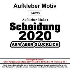 Scheidung 2020 - 3 - Autoaufkleber Aufkleber Fun Spaß Sticker Lustige Sprüche