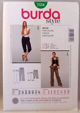 Burda Style pattern 7534 pants women's sizes 6-18