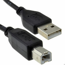USB 2.0 de Alta Velocidad Lead Cable de la impresora a a B 24AWG Negro 1.5 M