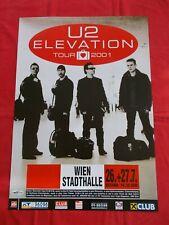 + 2001 U2 Elevation Tour Concert Poster July 26th Vienna Austria 1st print