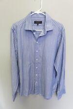 rag ad bone men shirt size 16 blue/stripe regular cuff, cotton
