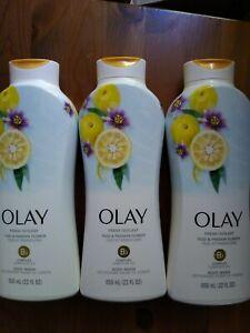 Set of 3 Olay Fresh Outlast Body Wash, Yuzu & Passion Flower B3, 22 fl oz Each