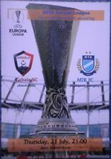Programme Gabala Azerbaijan - MTK Budapest Hungary 2016 Europa League