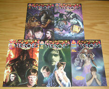 Lost Heroes #0 & 1-4 VF/NM complete series - mark hamill covers - davdez 2 3 set