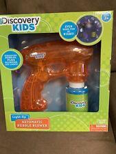 DISCOVERY KIDS BUBBLE BLOWER GUN/LIGHT-UP (ORANGE/GREEN) SUPER CUTE!