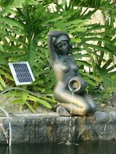 ASC Bronze Girl Kneeling Holding Pot with 2-watts Solar Water Pump Kit