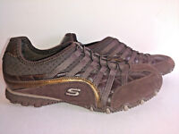 Shoes SKECHERS Sneakers Womens Size 7 Brown Slip Ons Leather Man Made Materials