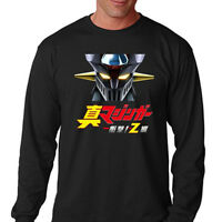 SHIN MAZINGER Z Mecha Anime Cartoon Men's Long Sleeve Black T-Shirt Size S-3XL