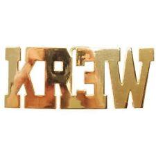 Krew Kr3w 24K Gold Metallic Logo Solid Metal Discount Belt Buckle