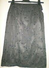 Hirsch Vintage Skirt Black & Olive UK Size 8 NEW
