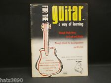 For the Guitar a way of Learning, Book 1, Don Comanda, Chords for Accompaniment