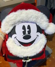 NWT! Loungefly Disney Parks SANTA MICKEY MOUSE Mini Backpack IN HAND