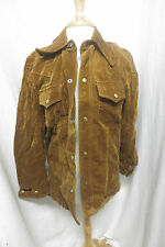 Mod Brown Velveteen Lined Hippie Jacket Mod Disco