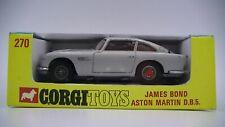 Corgi James Bond 270 Aston Martin DB5 Original En Caja Vintage Excelente Estado