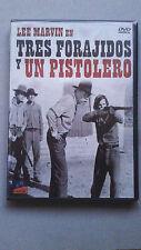 """DVD """"TRES FORAJOIDOS Y UN PISTOLERO"""" COMO NUEVA LEE MARVIN RICHARD FLEISCHER"""