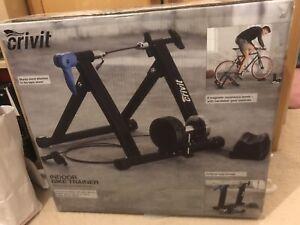 Crivit Indoor Bike/Turbo Trainer, 8 Magnetic Resistance Levels, Foldable