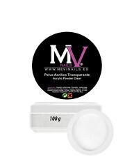 Polvo  Acrilico Clear 100 gr Trasnparente Profesional Mevinails - Porcelna uñas