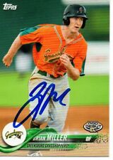 Brian Miller Greensboro Grasshoppers 2018 Topps Pro Debut Signed Card