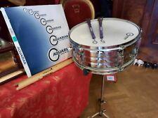 Snare Drum mit Ständer, Besen und Sticks gebraucht
