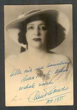 CLAUDIA MUZIO AT BUENOS AIRES 1935 FINE HAND SIGNED PHOTO