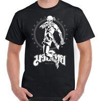 Muay Thai Skeleton Kick Boxer Mens Martial Arts T-Shirt MMA Top UFC Skull Fight