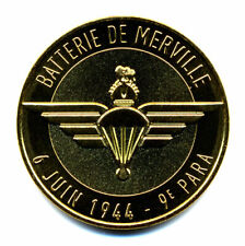 14 MERVILLE-FRANCEVILLE Batterie, 6 juin 1944 - 9e Para, 2021, Monnaie de Paris