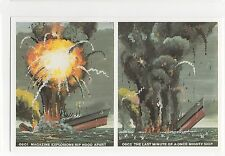 #DAL1/S42/D250 0601 Magazine Explosion - Sinking Of The Hood & Bismarck Postcard