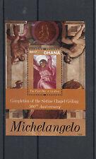 Ghana 2012 MNH Michelangelo 500th Anniv Sistine Chapel Ceiling 1v S/S Creation