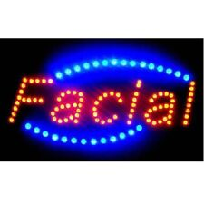 Animated Motion Led Business Spa Facial Sign OnOff Switch Bright Open Light Neon