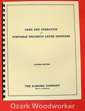 DUMORE Care and Operation of Portable Precision Lathe Grinders Manual 0286