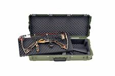 OD Green SKB Double bow / Rifle Case & Pelican TSA- 1720 Lock. With foam