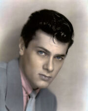 """TONY CURTIS HOLLYWOOD ACTOR & MOVIE STAR 8x10"""" HAND COLOR TINTED PHOTOGRAPH"""