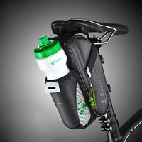 RockBros Waterproof Cycling Saddle Bag Bike Seat Tail Water Bottle Bag Black