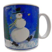 Oneida Snow Pals Coffee Mug Snowman Susan Zulauf Designs Christmas Winter Skate