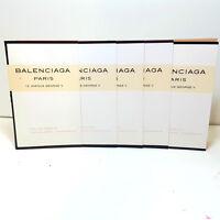 5x Balenciaga PARIS 10 AVENUE GEORGE V 1.2 ml EDP Women Vial Sample 5 PC