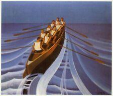 Canottieri [Rowing, Rowers] : Pippo Rizzo :Circa 1929 Archival Quality Art Print