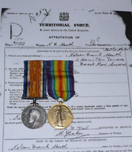 WWI BWM & VM PAIR TO 12th LONDON REGT (THE RANGERS) + Records and Details