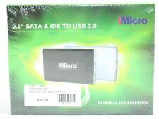"iMicro 2.5"" SATA & IDE To USB 2.0 External HDD Enclosure IM25COMBK"
