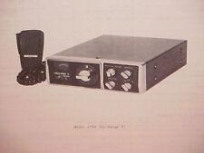 1977 HY-GAIN CB RADIO SERVICE SHOP MANUAL MODEL 674B (HY-RANGE V)