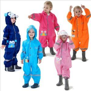 Kinder Regenanzug Jungen Mädchen Alles in einem Overall wasserdichter*Regenmante