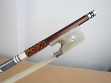 1pcs profession snakewood 4/4 cello bows, white OX horn frog