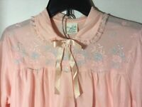 VINTAGE 1960s  Women's Miss Siren Pink Pajamas Set Size 40 Large